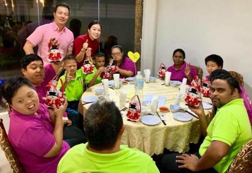 Charity Christmas Dinner with Persatuan Penjagaan Kanak-Kanak Cacat Klang Selangor on 1/12/2018