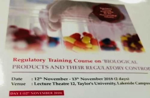 Regulatory Training Course on Biological Products and Regulatory Control-12.11.2018-13.11.2018 (6)