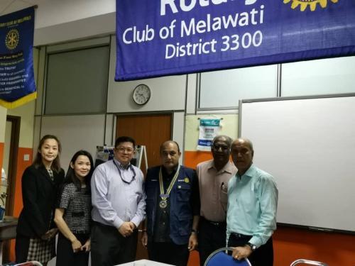 Cellular Regenerative Treatment for Osteoarthritis talk at Rotary Club of Melawati on 8/4/2019